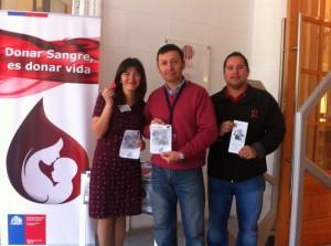 Banco de Sangre en sensibilizando en Biblioteca Regional 04
