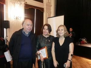 Mónica Rojas, junto a la Ministra de Salud Helia Molina y el Dr. René Castro Santoro